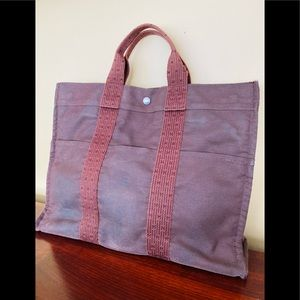 Hermes Canvas tote - Medium  - Preloved & Vintage